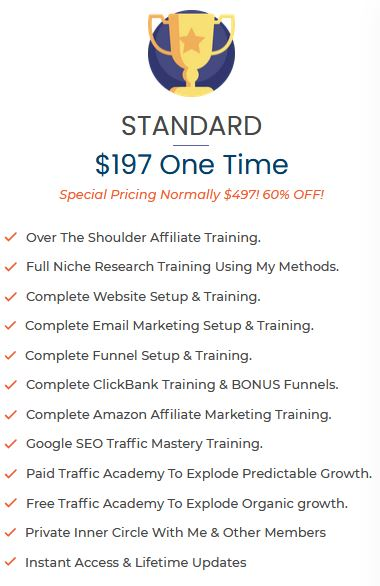 standard pricing for Savage Affiliates